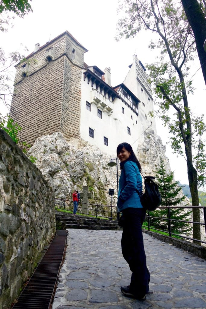 Arriving in Bran Castle