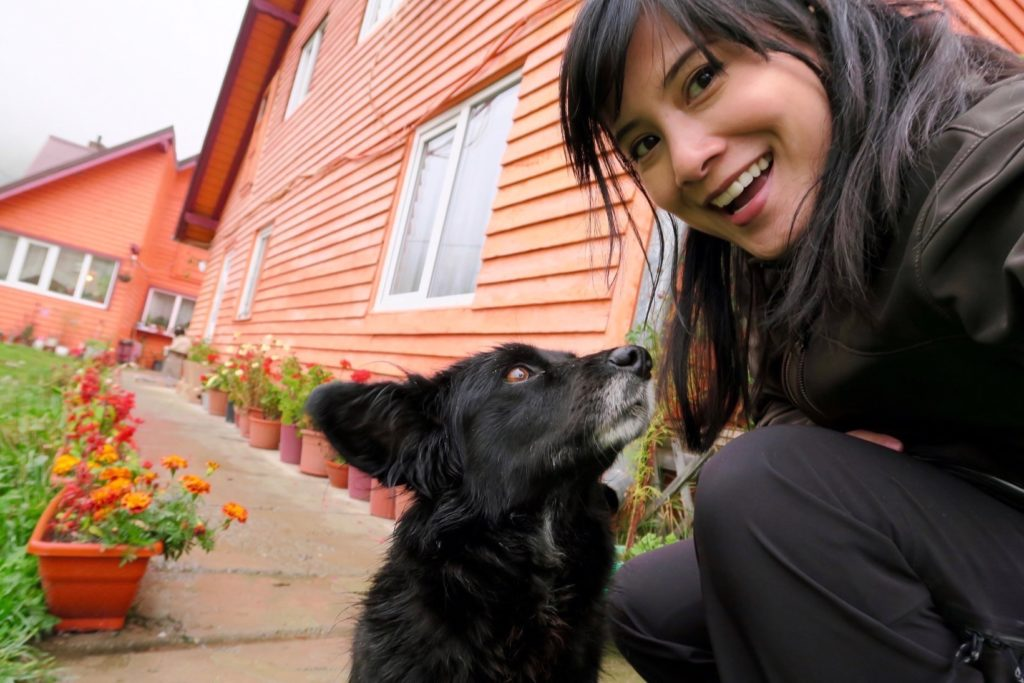 A selfie with my loyal Romanian companion