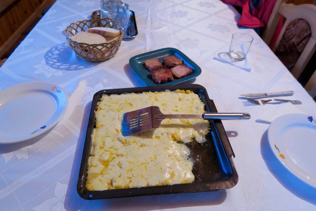 Rodica's irresistable polenta baked with cheese