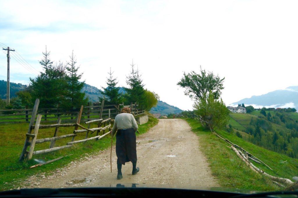 A Villager in Pestera, Romania