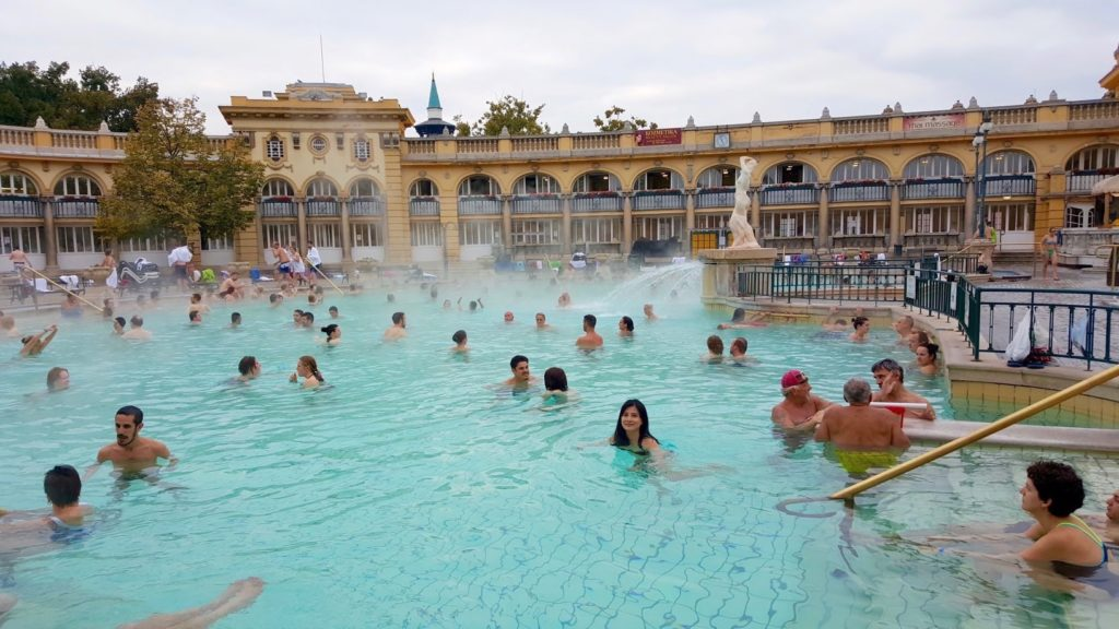 The Szechenyi Thermal Baths in Budapest