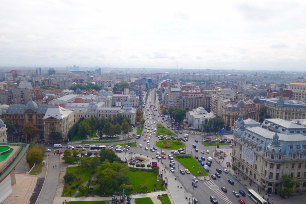 View of Bucharest City Central from the 18th level of Intercontinental Bucharest