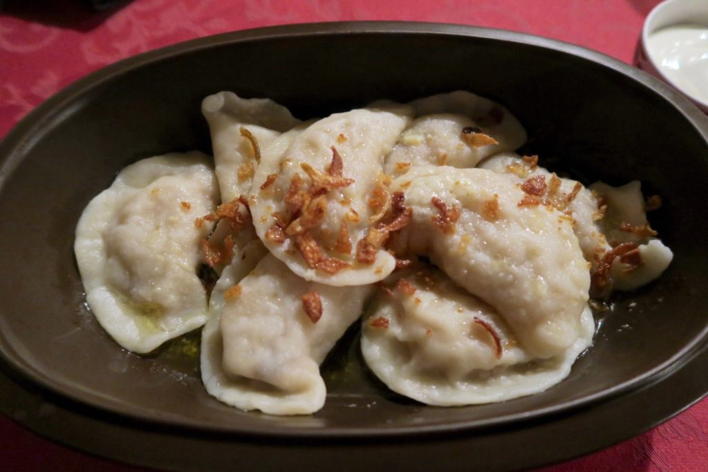Potato filled Pierogis