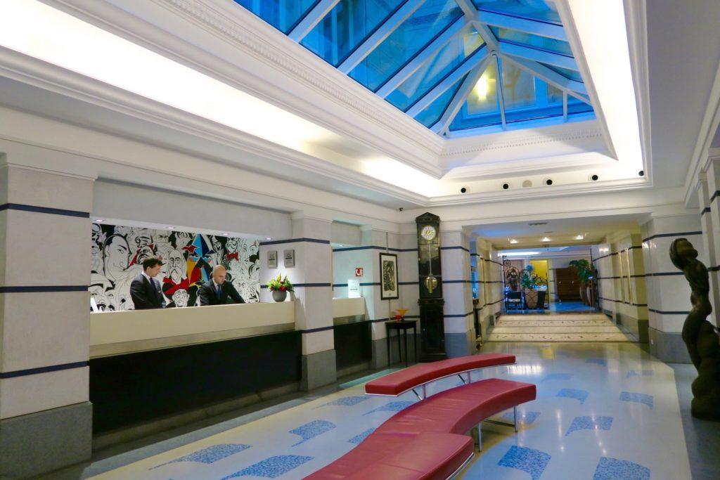 Lobby of Aria Hotel Prague