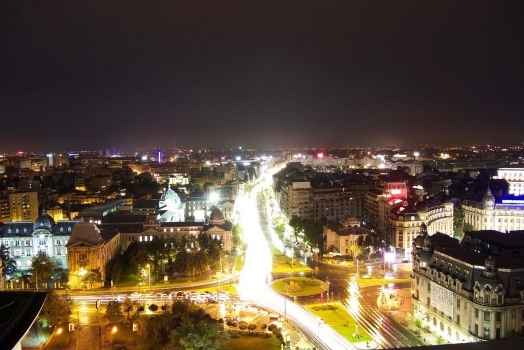 view of Bucharest from the 18th level Junior Suite, Intercontinental Hotel