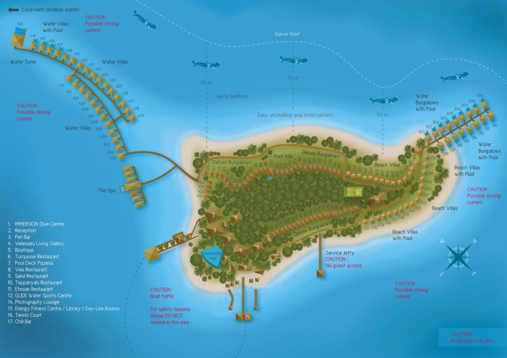 Resort Map : Velassaru Maldives