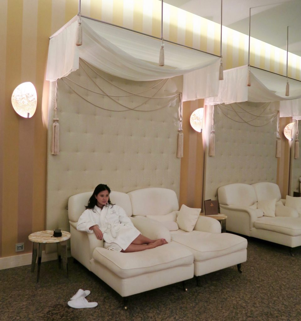 After a relaxing treatment at the ZION Spa , Grand Kempinski Hotel High Tatras