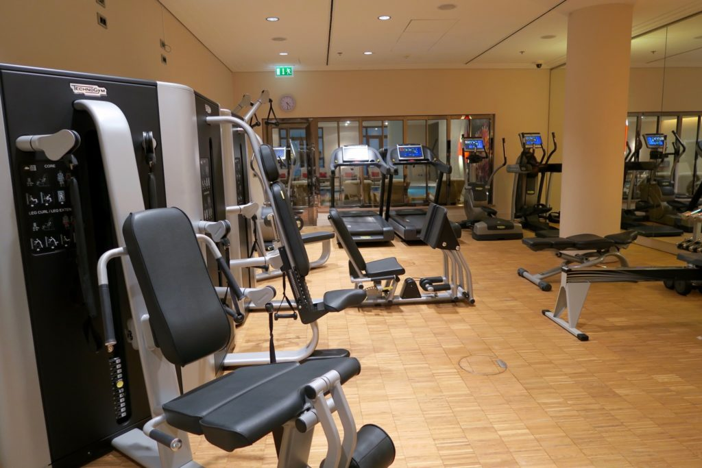 The gym at the Charles Hotel, Munich