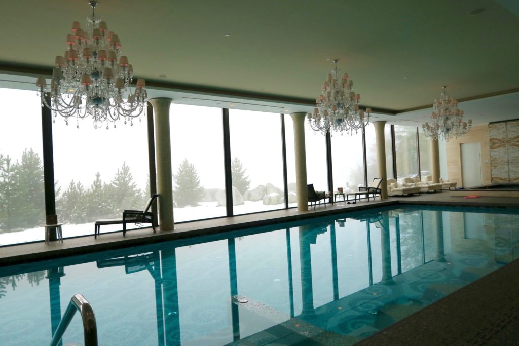 Indoor Pool at Kempnski Hotel High Tatras