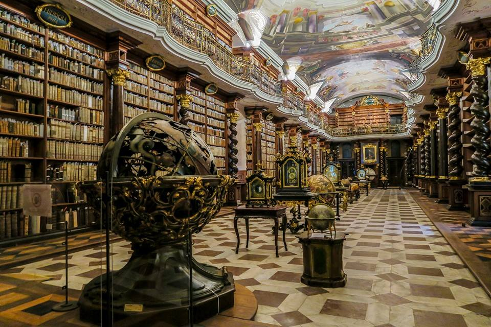 The World's Most Beautiful Library is in the Klementinum in Prague