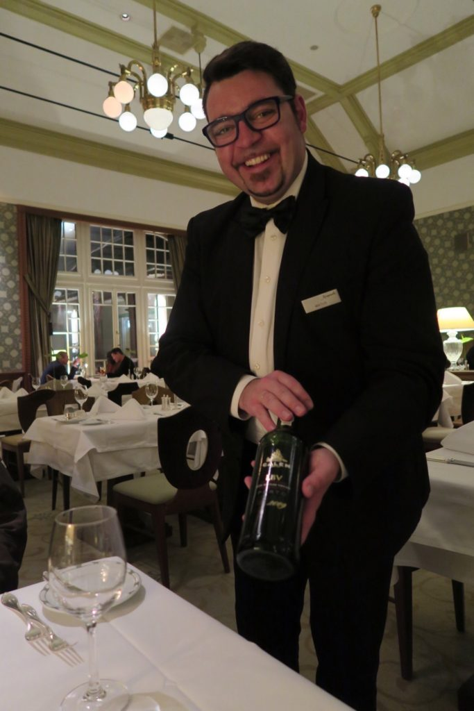 Matus, Sommelier from the Grand Restaurant of Kempinski High Tatras