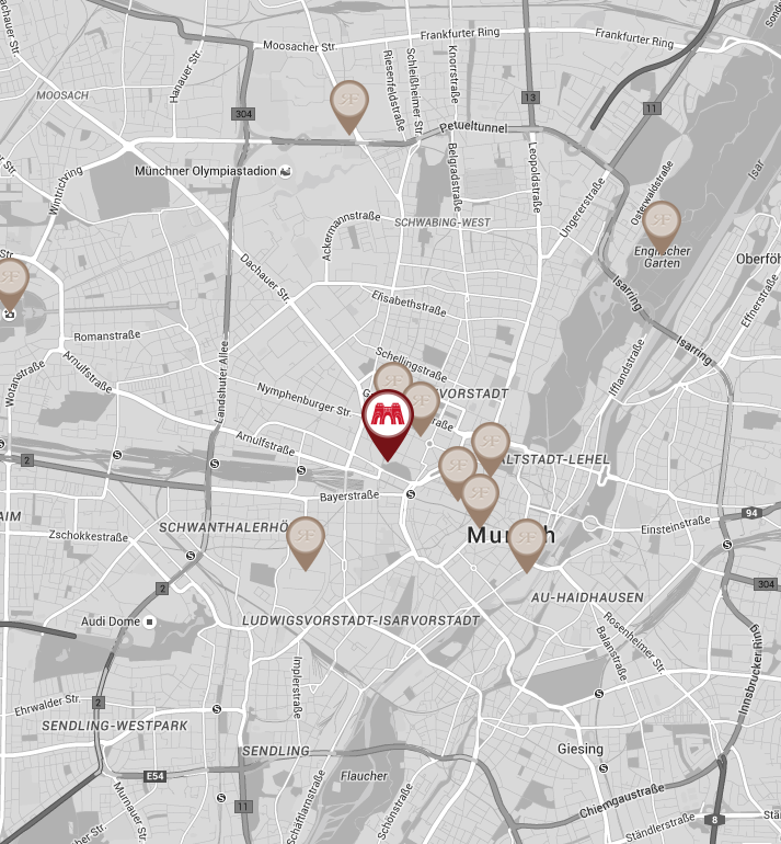 location of Charles Hotel Munich