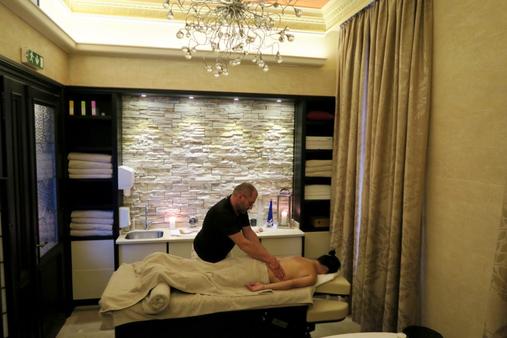 Massage session at the Quisisana Palace Spa, Karlovy Vary