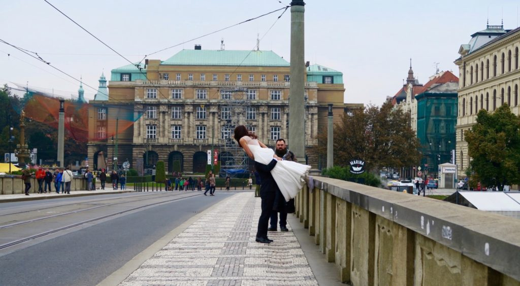 Newlyweds in Prague