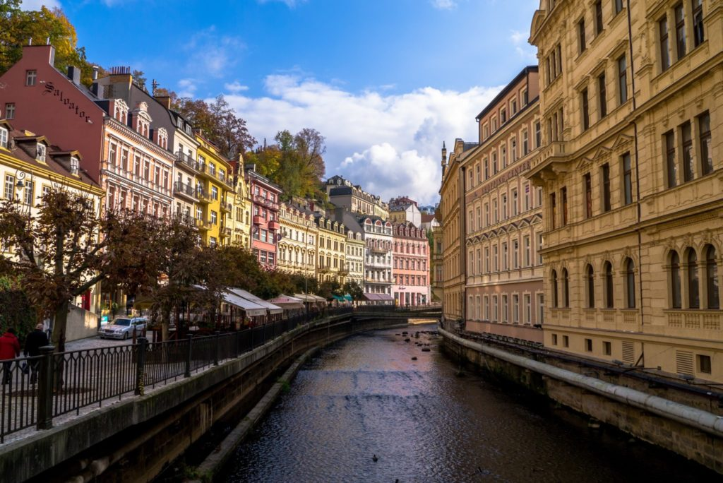 the spa town of Karlovy Vary