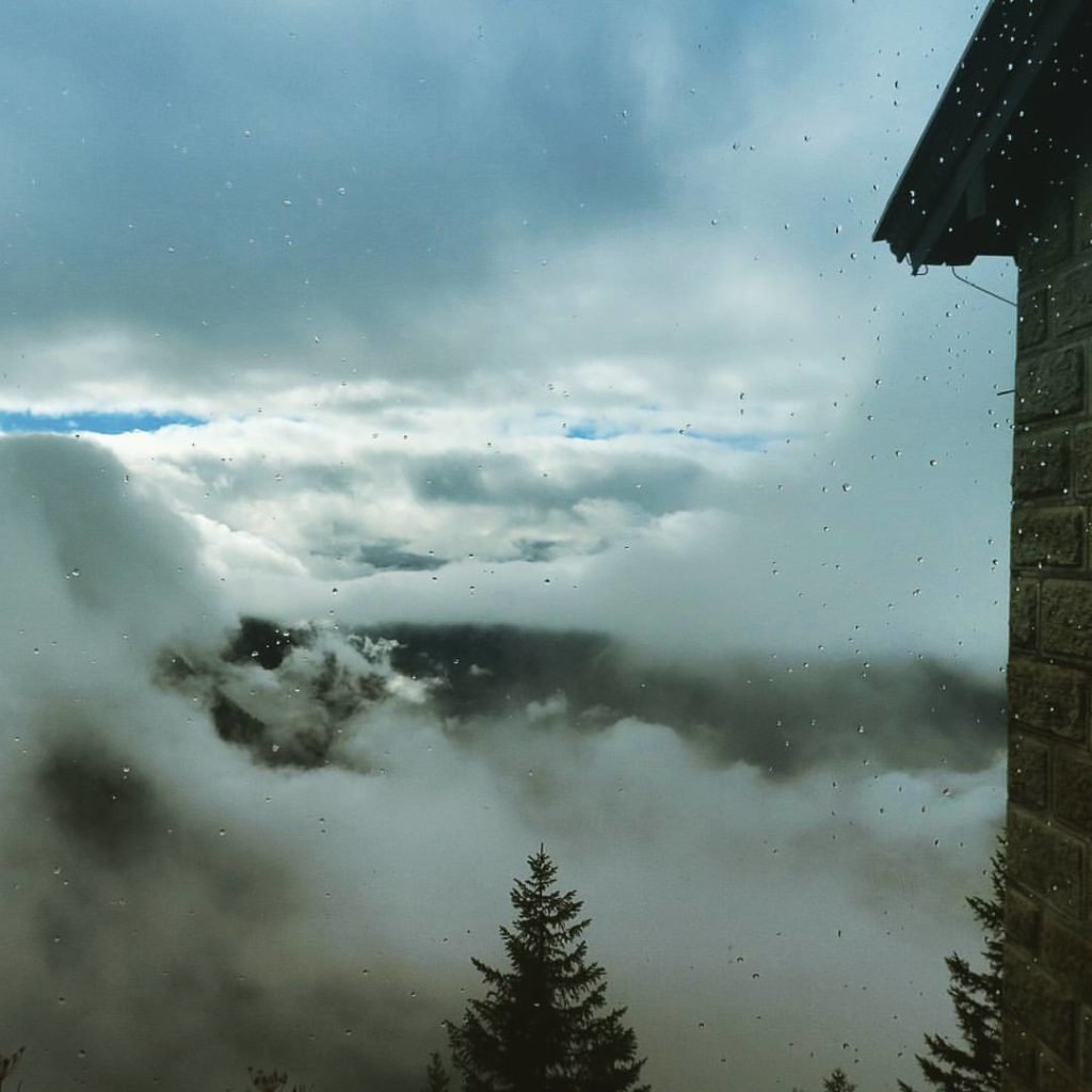 a cloudy day in Eagle's Nest, Munich
