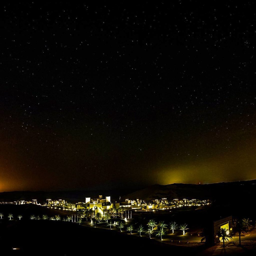 Sky full of stars. Qasr al Sarab Desert Resort by Anantara at night