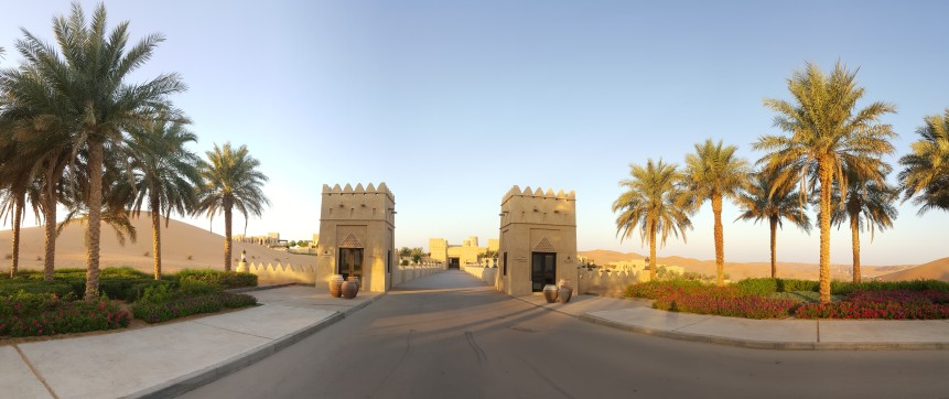 Entrance to Qasr Al Sarab Anantara