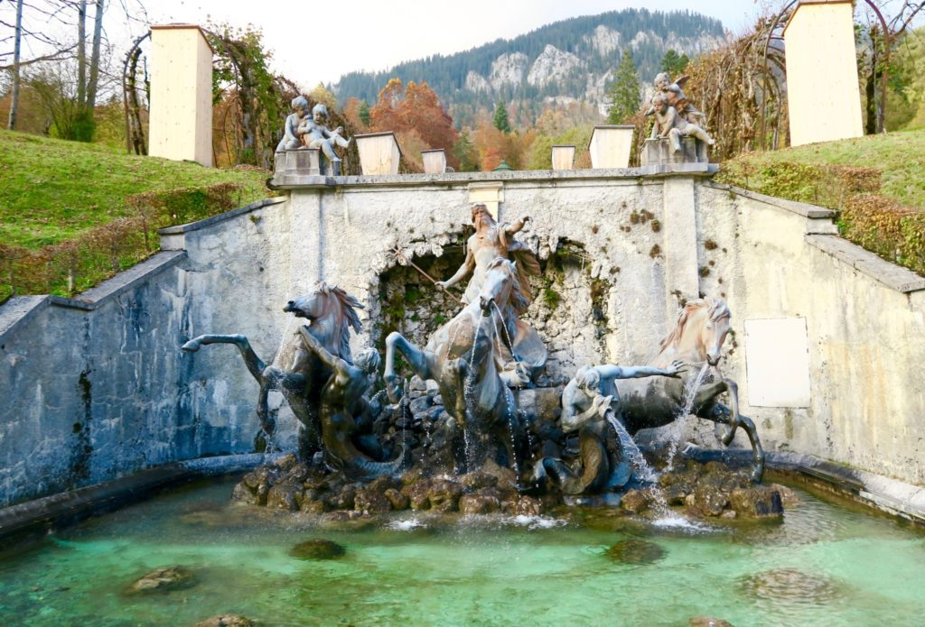 The grounds of Linderhof Palace