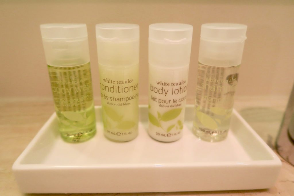 Bathroom toiletry. Linden Superior Room at the Westin Grand Berlin