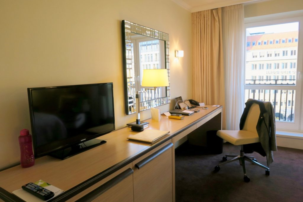 working desk / vanity at the Linden Superior Room, Westin Grand Berlin