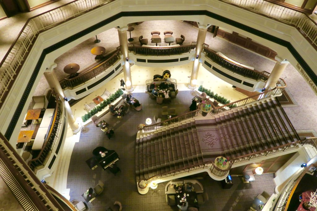 birds eye view of reception , The Westin Grand Hotel Berlin