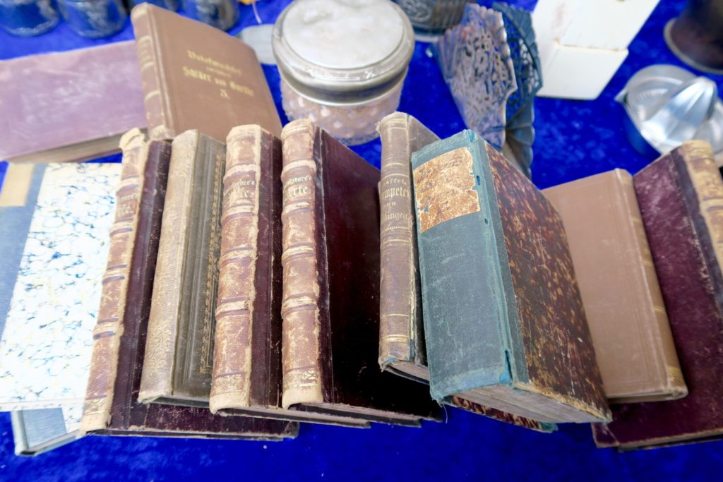 Books that are hundreds of years old. Berlin flea market