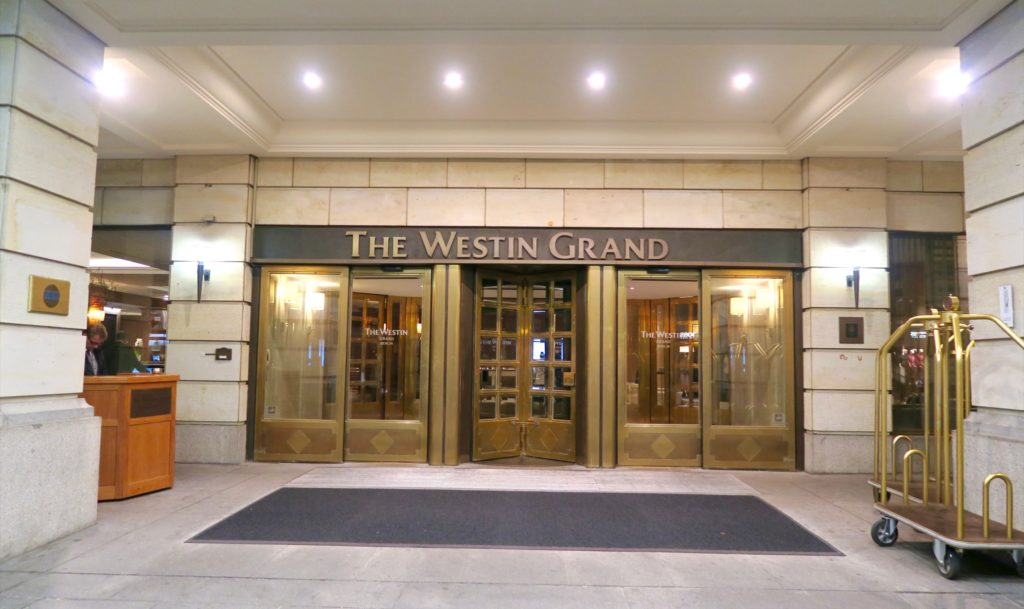 Entrance doors of the Westin Grand Berlin