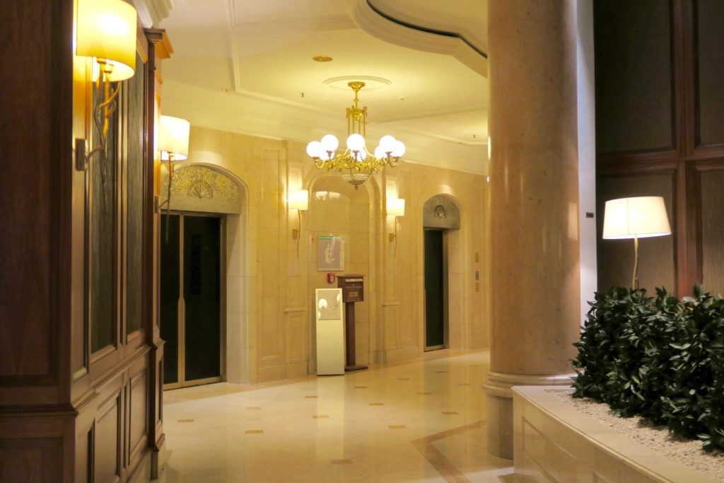 the lifts / elevators of the Westin Grand Berlin