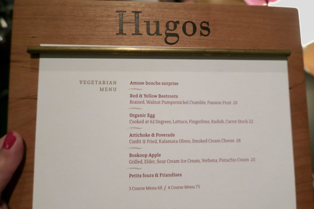 Vegetarian Menu at Hugos, InterContinental Berlin
