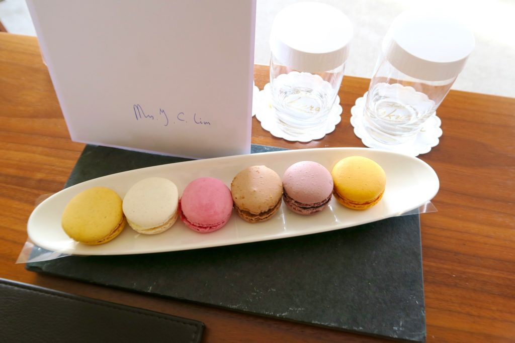 Macarons to welcome you! Hotel Okura Amsterdam