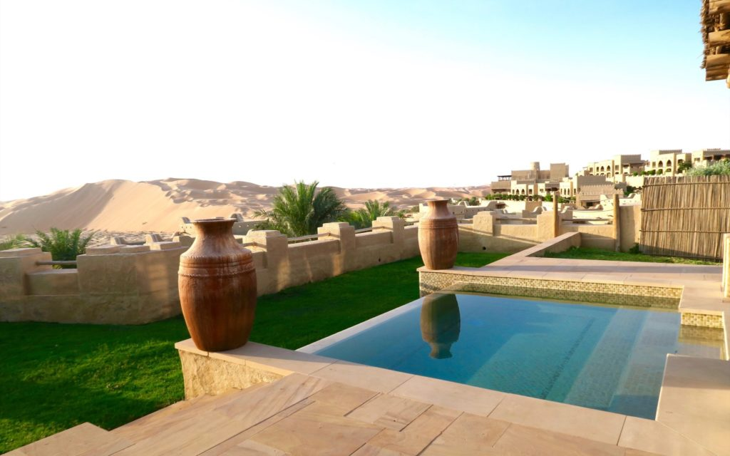 Private Pool in a one-bedroom villa at Qasr al Sarab by Anantara