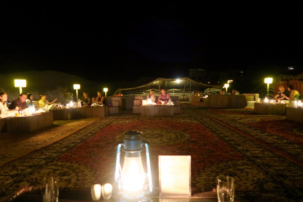 Dinner at Al Falaj, Qasr al Sarab by Anantara