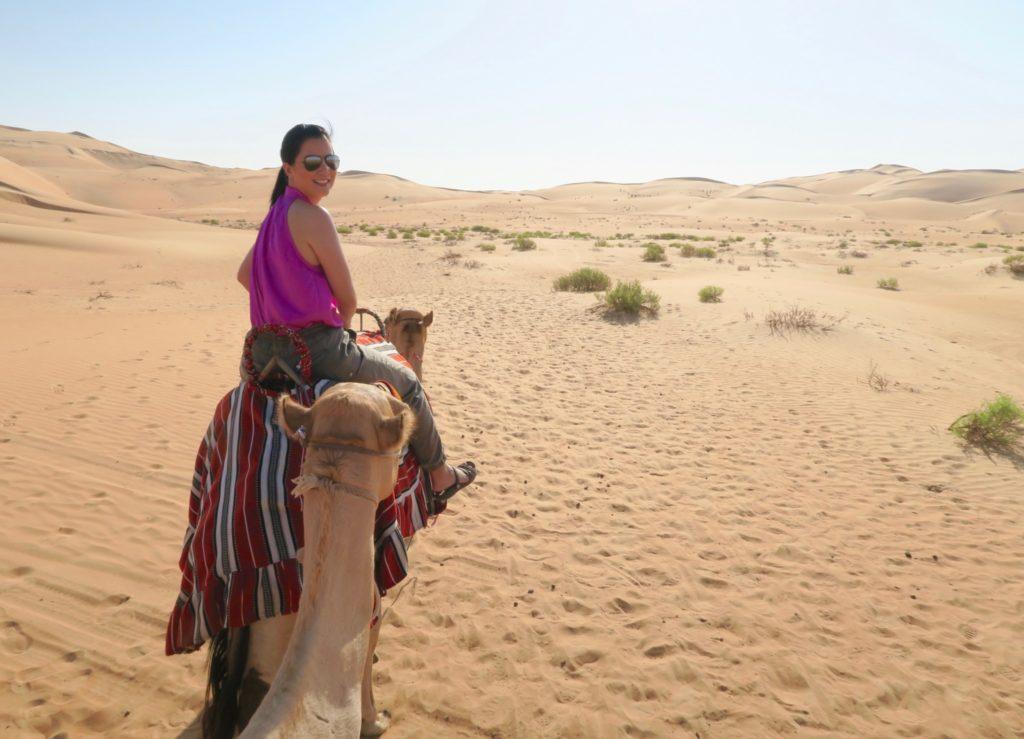 Camel trekking at Qasr al Sarab by Anantara