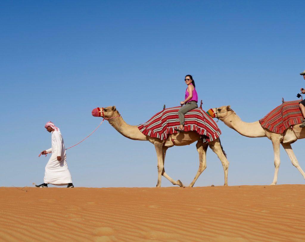 Camel Trekking in Anantara Qasr al Sarab