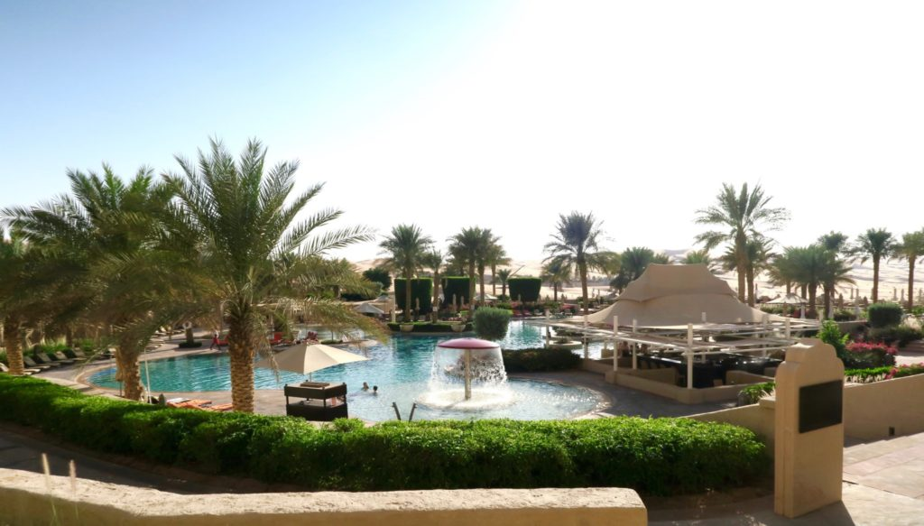 The pool at Qasr al Sarab by Anantara