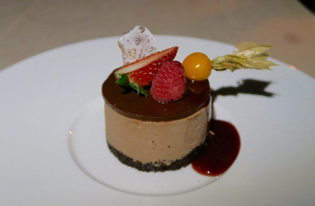 Chocolate and Nutella Cheesecake. Suhail Restaurant. Qasr al Sarab by Anantara