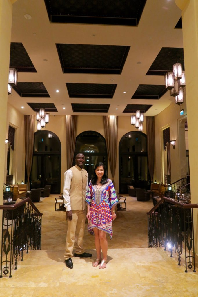 With the marvellous Johannes, our private butler at Qasr al Sarab by Anantara