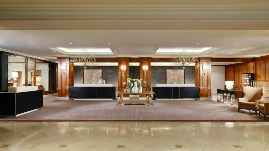 Reception and Check-in area of the Grand Westin Berlin