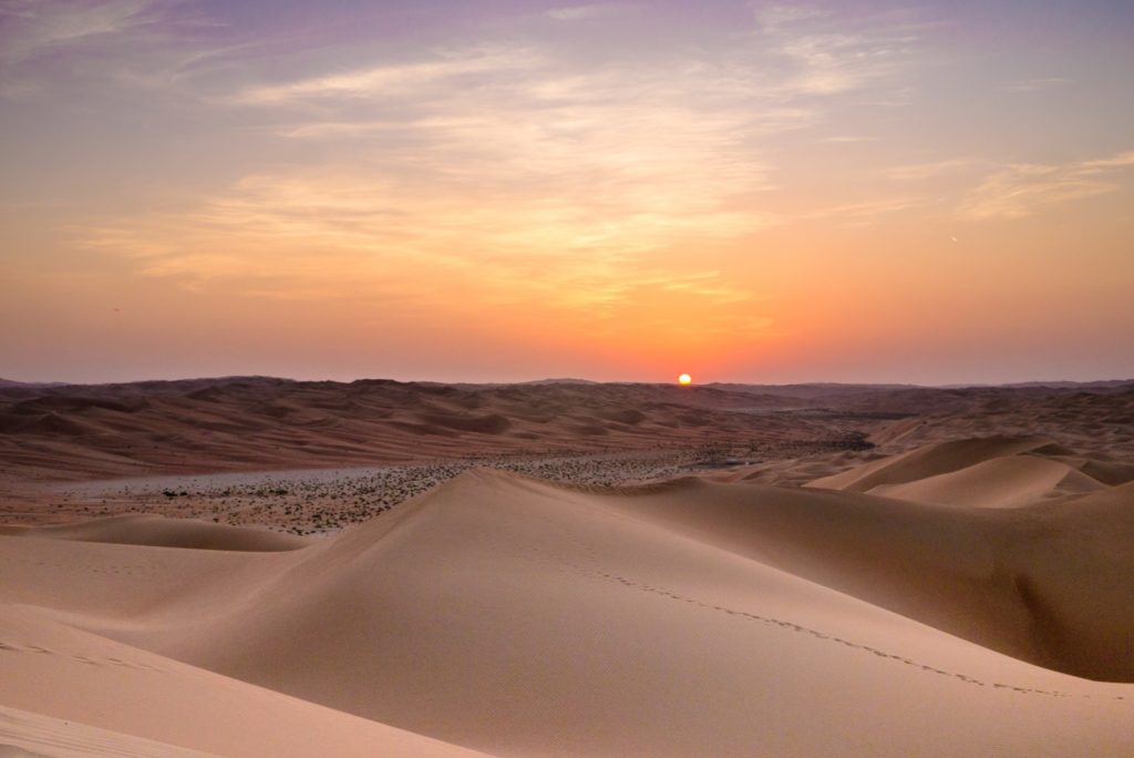 Sunset at Qasr al Sarab by Anantara