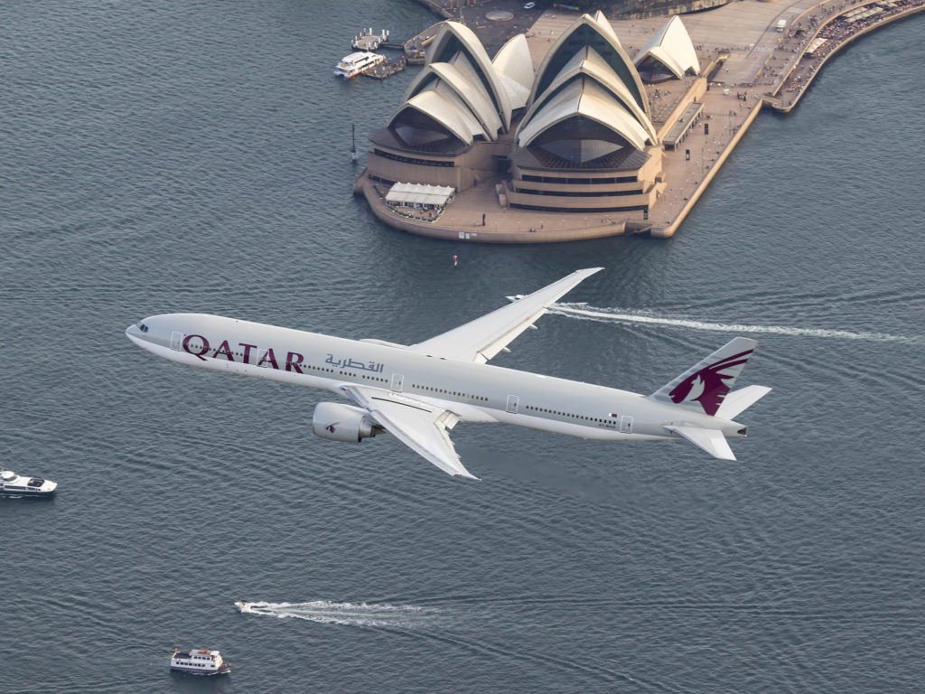 Qatar Airways now flies direct to and from Sydney to Doha