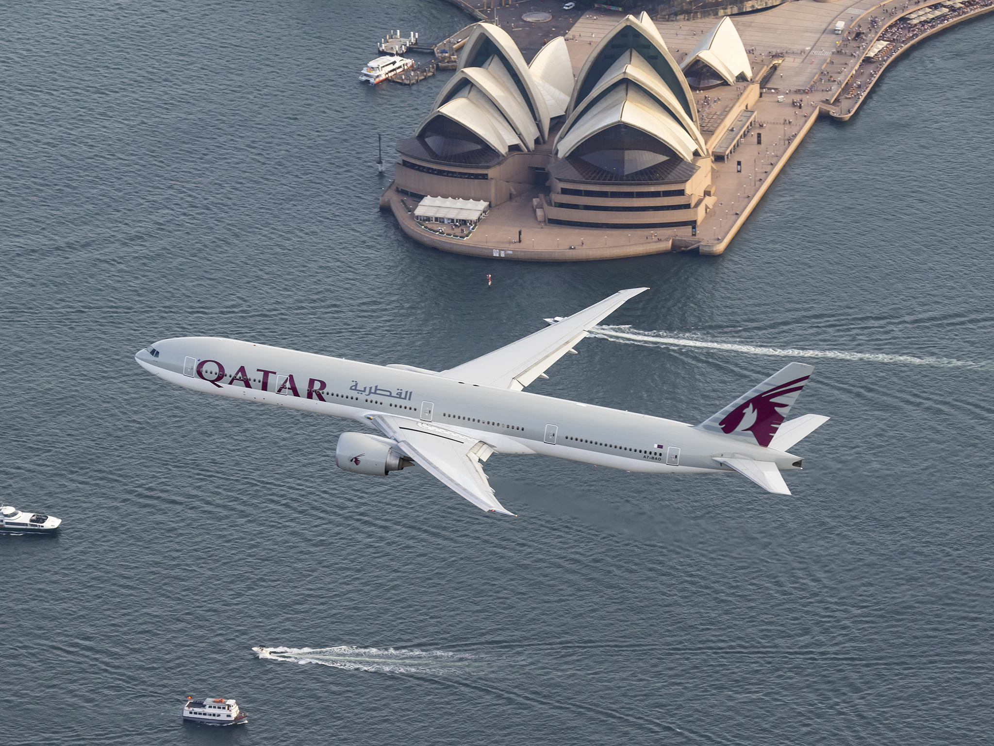 Qatar airways commences daily flights to sydney with the boeing 777 qatar airways commences daily flights to sydney with the boeing 777 300er holy smithereens stopboris Image collections