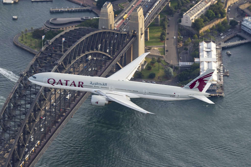 Qatar Airways now flies Sydney to Doha direct daily on the B777-300ER