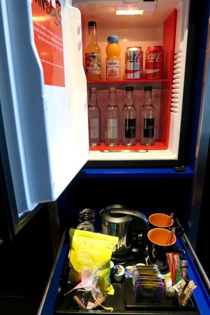 complimentary mini-bar at the Andaz Liverpool