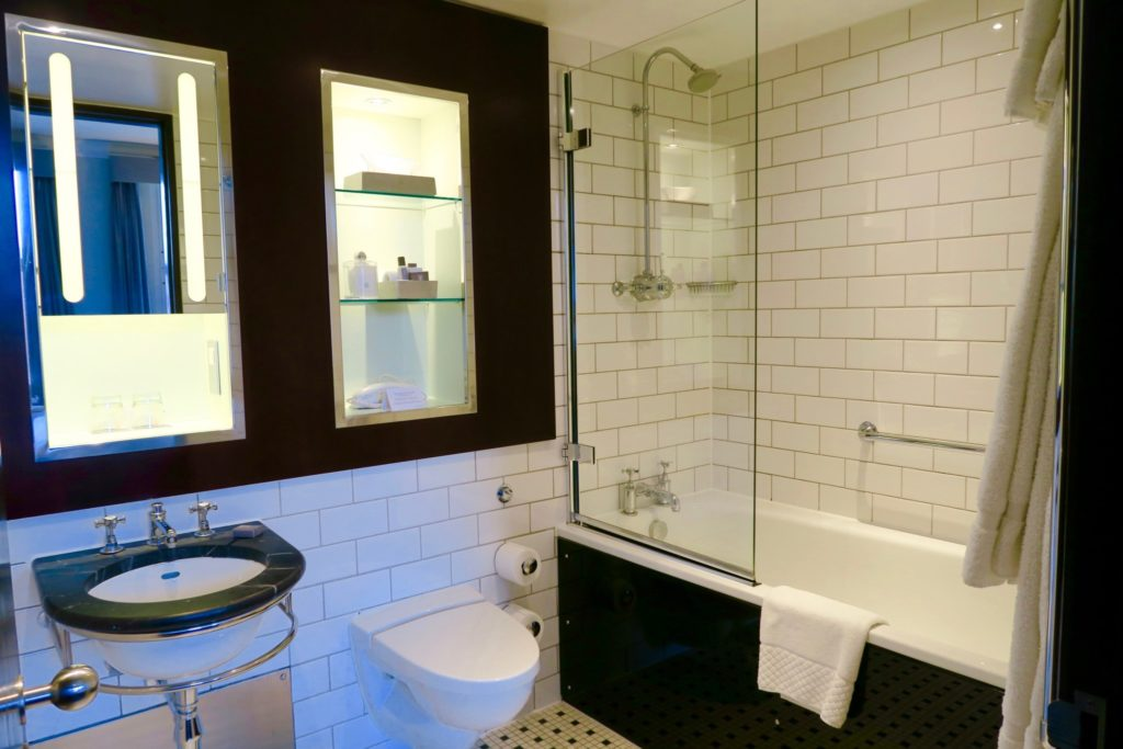 bathroom of a King bedroom, Andaz Hotel Liverpool
