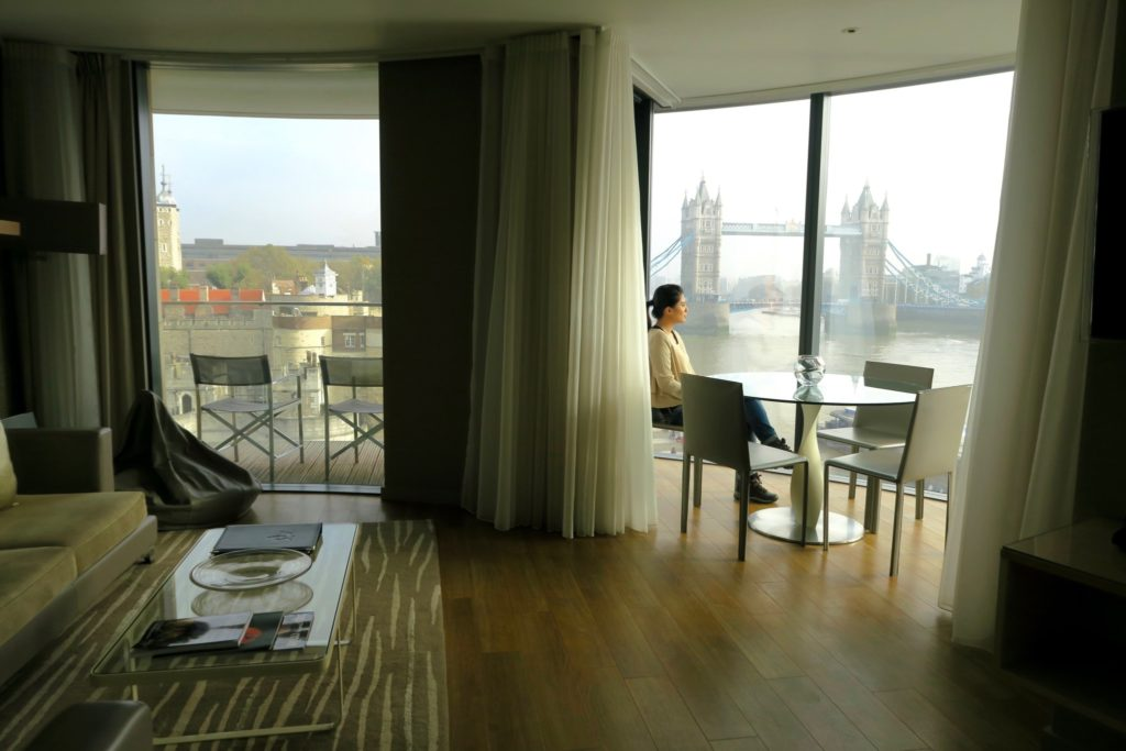 Views from the two-bedroom apartment at Cheval Three Quays