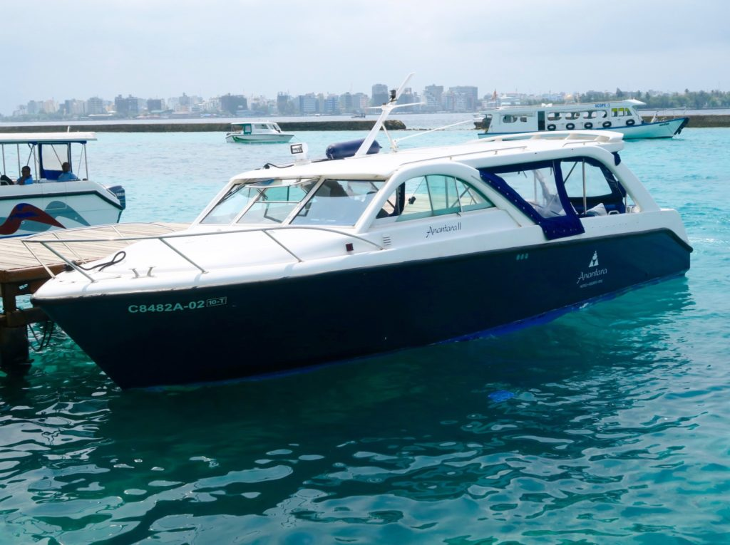 Anantara's speedboat transfer in the Maldives
