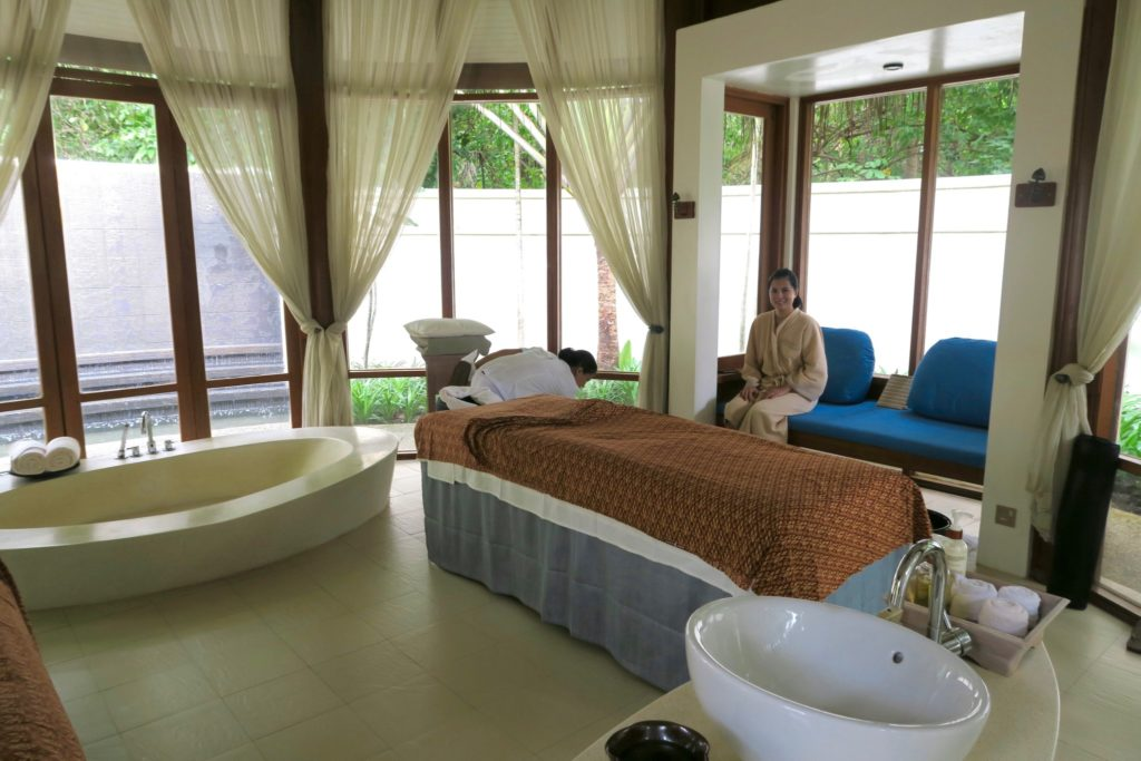 Couples Massage room at the Anantara Veli Maldives