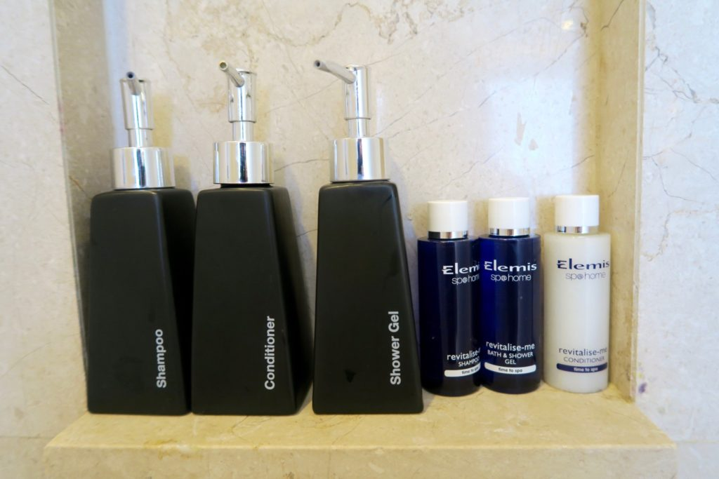 Bathroom toiletries at Anantara Veli Maldives