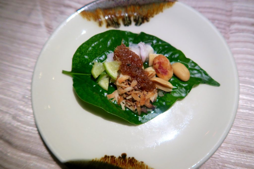 Miang kham from Baan Huraa Thai Restaurant in Anantara Veli